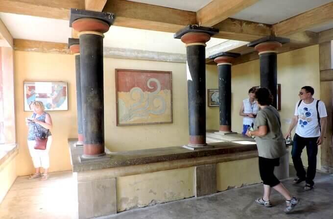 Cnosso: la sala degli affreschi
