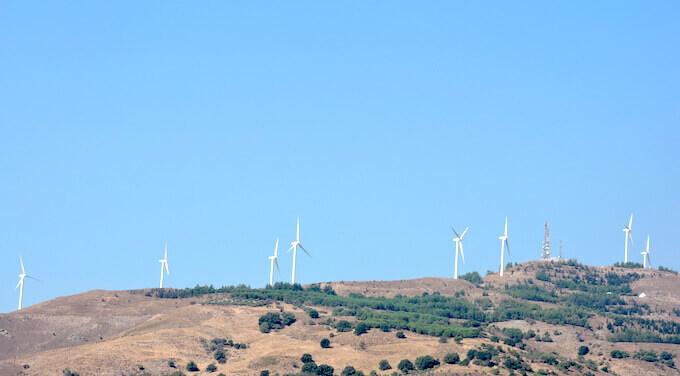 Pale eoliche a Creta