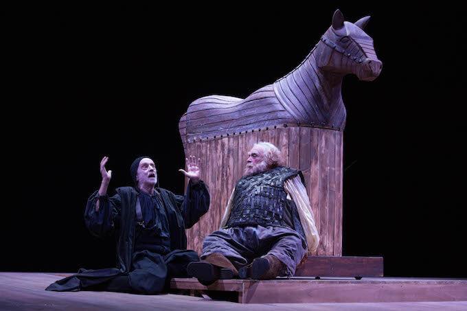 """Massimo De Francovich e Franco Branciaroli in """"Falstaff e il suo servo"""" (foto di Tommaso Le Pera)"""