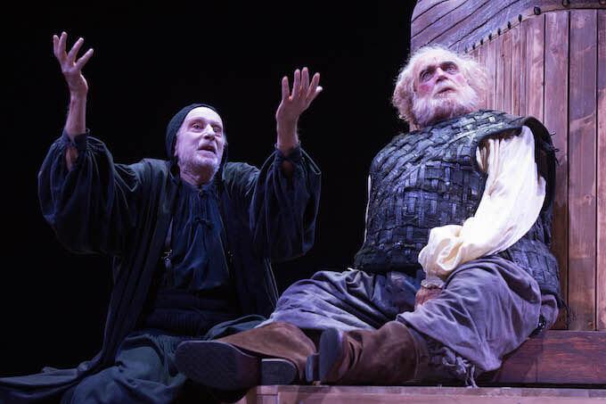 """Massimo De Francovich e Franco Branciaroli in """"Falstaff e il suo servo"""" (foto Tommaso Le Pera)"""