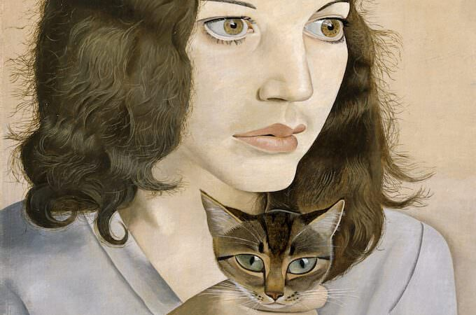 Lucian Freud, Girl with a Kitten, 1947, Oil paint on canvas, 410 x 307 x 18 mm. Tate: Bequeathed by Simon Sainsbury 2006, accessioned 2008 © Lucian Freud Archive / Bridgeman Images. Photo: © Tate, 2019