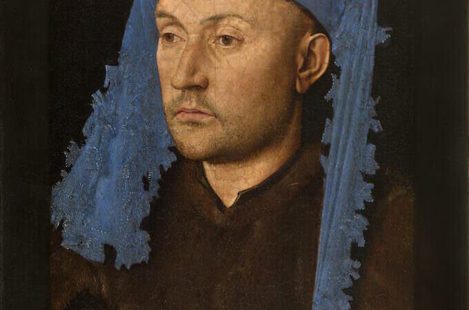 Jan van Eyck, Portrait of a Man with a Blue Chaperon, Muzeul National Brukenthal, Sibiu (Romania)