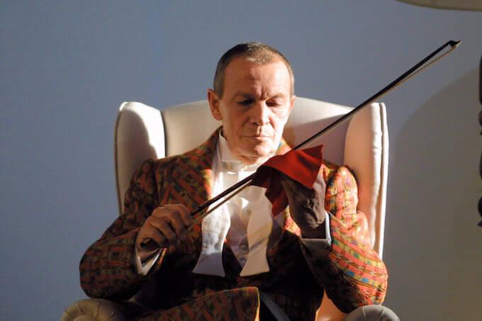 """Umberto Orsini in """"Il nipote di Wittgenstein"""" (foto di Marco Caselli Nirmal)"""