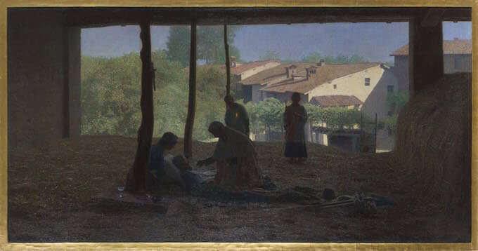 Giuseppe Pellizza, Sul fienile, 1893-1894, Collezione privata