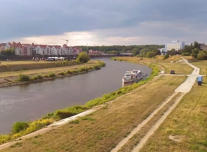 Il fiume Warta a Poznań