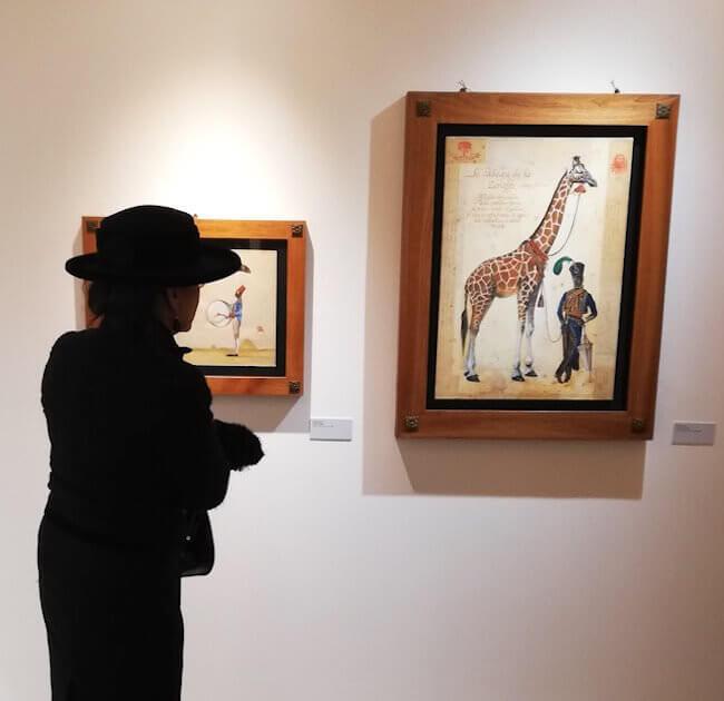 Alcune opere di Stefano Faravelli esposte a Biella
