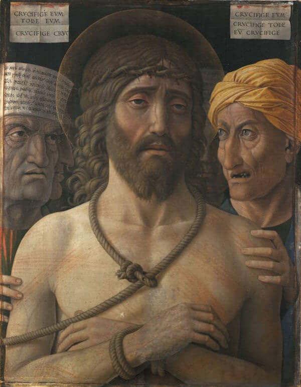 Andrea Mantegna, Ecce Homo, 1500-1502 ca. Tempera a colla su tela di lino montata su legno, 54,7 x 43,5 cm Paris, Musée Jacquemart-André - Institut de France © Studio Sébert Photographes