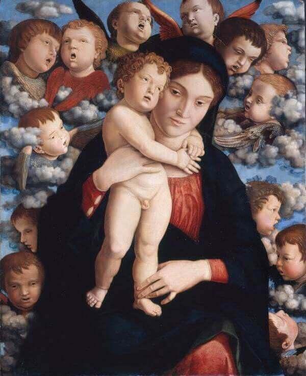 Andrea Mantegna, Madonna dei cherubini, Pinacoteca di Brera, Milano