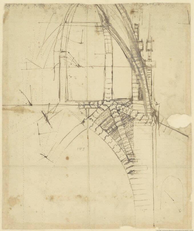 CA 851 r Sezione del tiburio del Duomo © Veneranda Biblioteca Ambrosiana