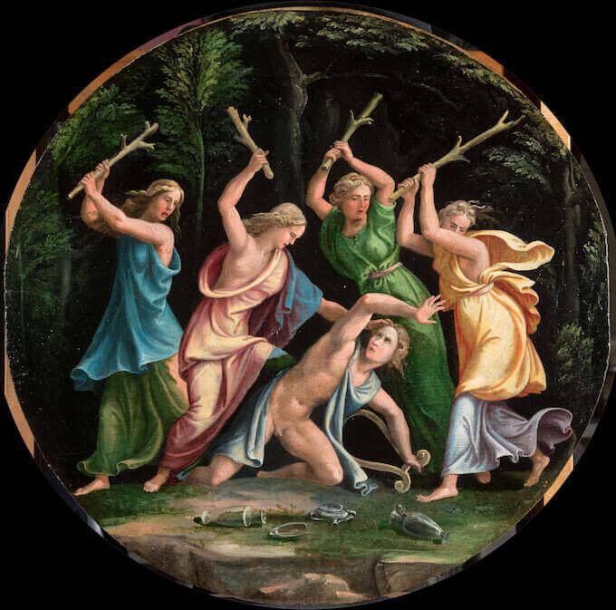 Giulio Romano e bottega, Orfeo ucciso dalle Baccanti, Torino, collezione privata