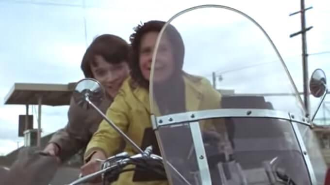 """I protagonisti del film """"Harold e Maude"""" di Hal Ashby"""