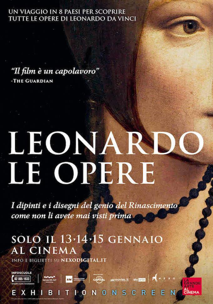 """Poster del docu-film """"Leonardo. Le opere"""""""