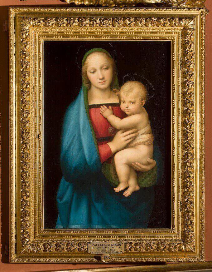Raffaello Sanzio, La Madonna del Granduca, Palazzo Pitti, Firenze
