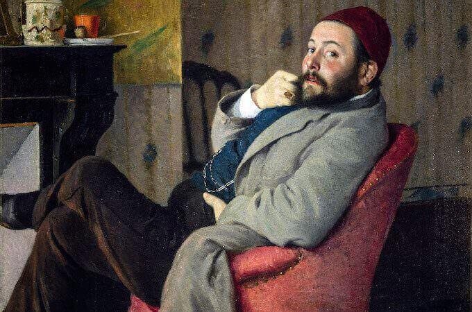 Federico Zandomeneghi, Ritratto di Diego Martelli