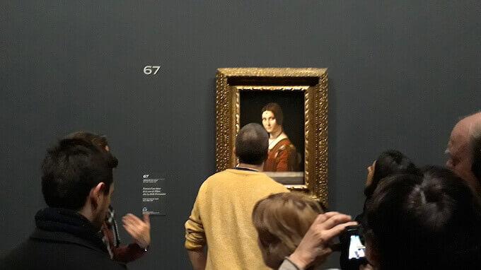 Visitatori della mostra di Leonardo da Vinci al Louvre