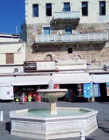 Una fontana a Chania