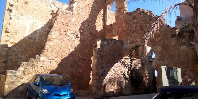 I ruderi della chiesa di San Marco a Chania, sull'isola di Creta
