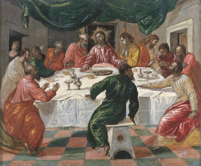 El Greco, Ultima Cena, (1568-1570), Pinacoteca Nazionale, Bologna. Foto © Archivi Alinari, Firenze, dist RMN-Grand Palais / Mauro Magliani