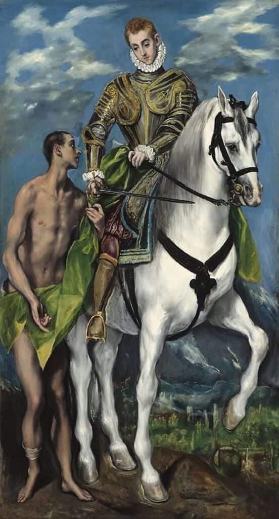 El Greco, San Martino e il povero, 1597-1599, olio su tela. Washington, National Gallery of Art © Washington, National Gallery of Art