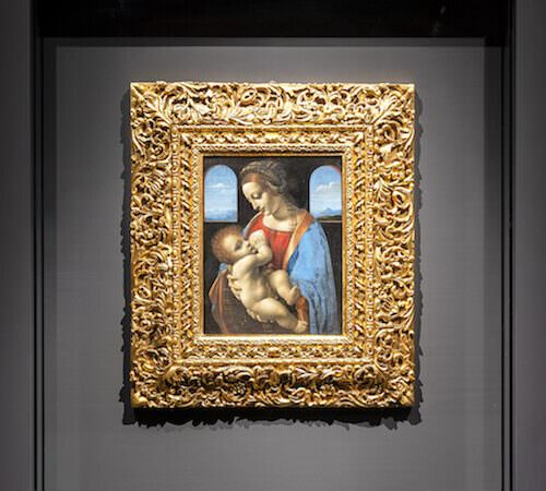 Leonardo da Vinci, Madonna Litta, tempera su tavola trasportata su tela, c. 1495 © San Pietroburgo, Museo Statale dell'Ermitage