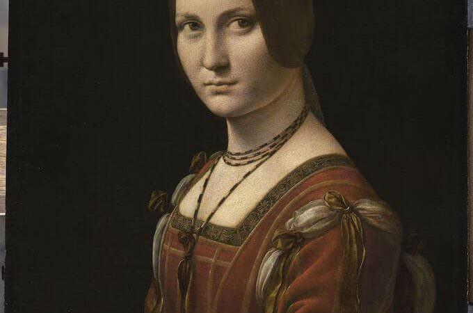 """Leonardo da Vinci, Ritratto di una dama della corte di Milano, detta """"La Belle Ferronnière"""" © RMN-Grand Palais (Musée du Louvre – Michel Urtado)"""