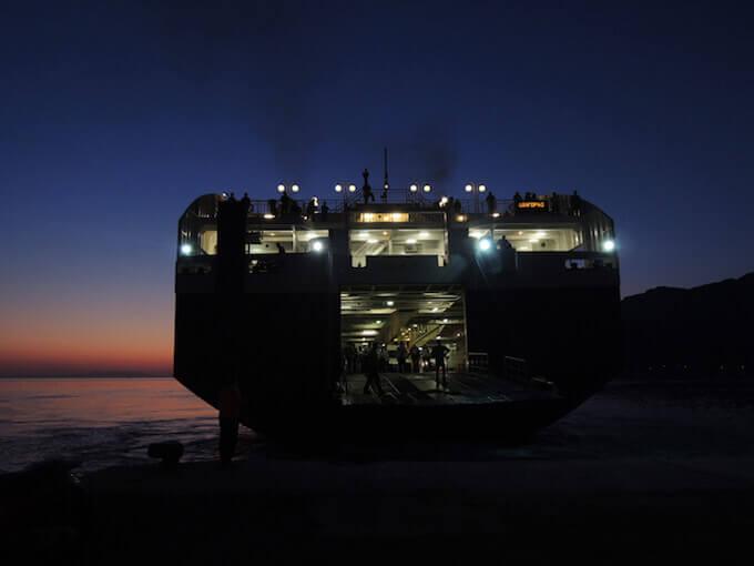 Paolo Gotti, Nave in Grecia