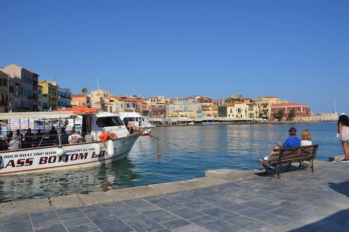 Porto di Chania: battelli in attesa di partire