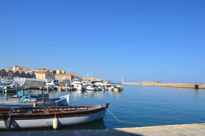 Il porto di Chania sull'isola di Creta