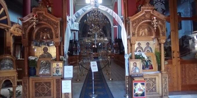 Chania: l'interno della chiesa di San Nicola
