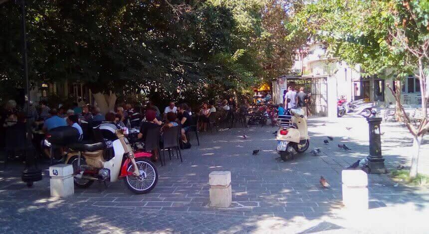 Piazza 1821 a Chania, Creta