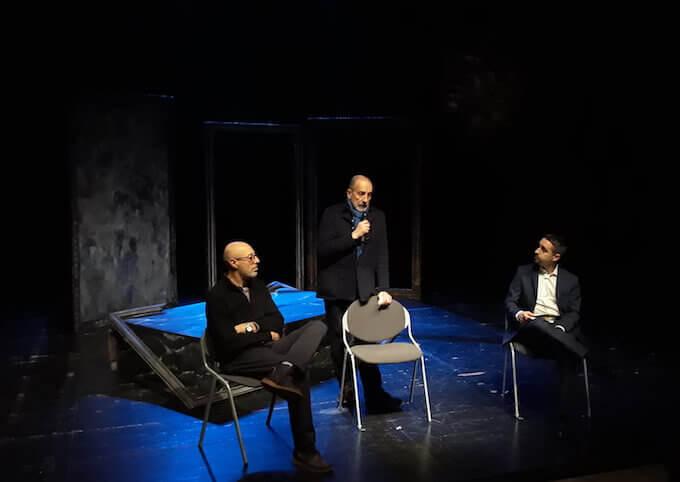 Roberto Traverso, Fausto Malcovati e Alberto Oliva al Teatro Out Off di Milano