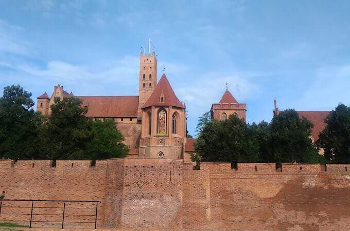 Il Castello di Malbork in Polonia