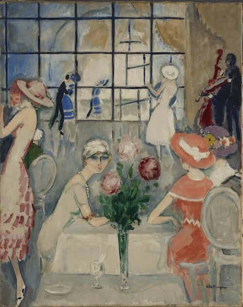 Kees van Dongen, Thé au Casino (Deauville), 1920. Olio su tela. Collezione privata © MAP Foto: Mathieu Bernard-Reymond