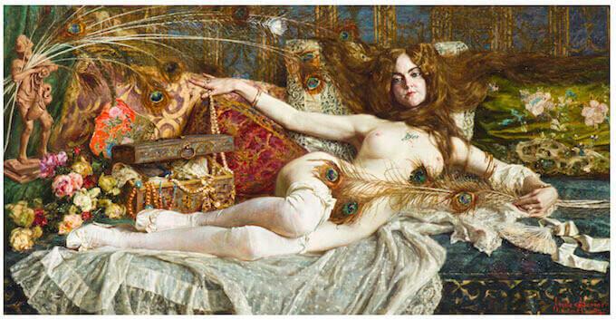 Angelo Garino, Interno con modella nuda, collezione privata, courtesy Arcuti Fine Art