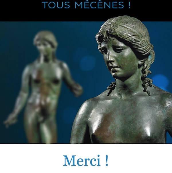 Ringraziamento del Louvre ai partecipanti della campagna Tous Mécènes per l'Apollo Citaredo