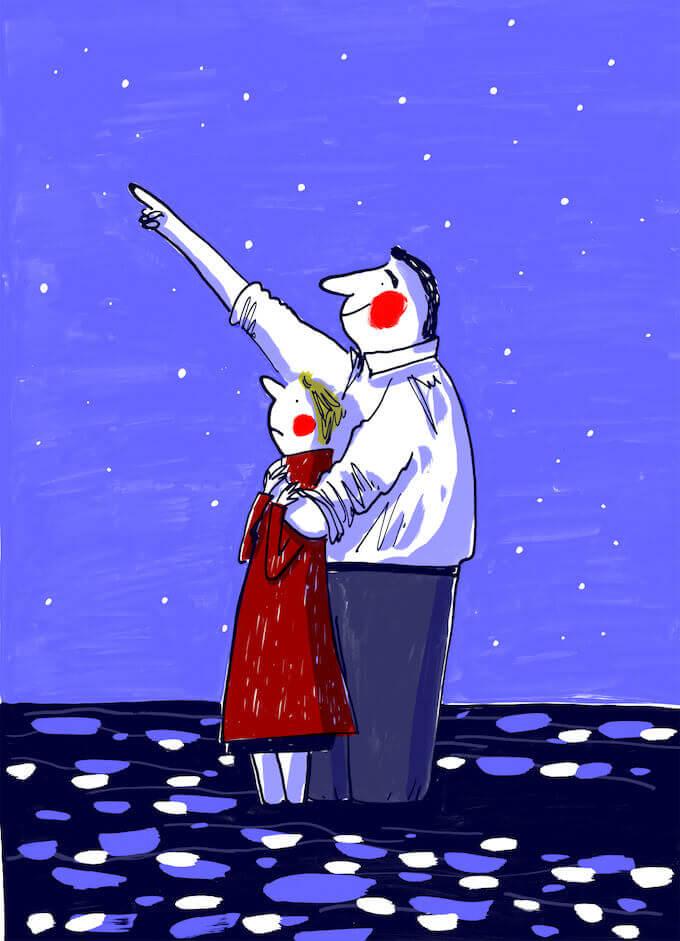 """Illustrazione di Puck Koper per """"Giulietta e Federico"""" (Camelozampa)"""