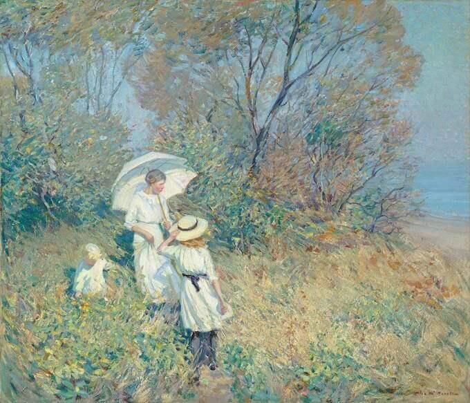 Helen McNicoll, Septembre ensoleillé, 1913. Olio su tela, 92 × 107,5 cm Collezione Pierre Lassonde Foto: MNBAQ, Idra Labrie