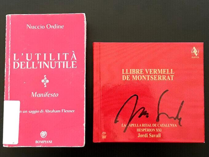"""Nuccio Ordine, """"L'utilità dell'inutile"""" e Jordi Savall, """"Llibre vermell de Montserrat"""""""