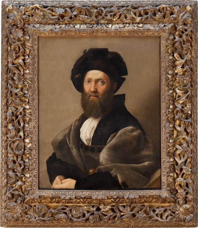 Raffaello, Ritratto di Baldassarre Castiglione (1513). Parigi, musée du Louvre, dèpartement des Peintures © Musée du Louvre, Dist. RMN – Grand Palais / Angèle Dequier
