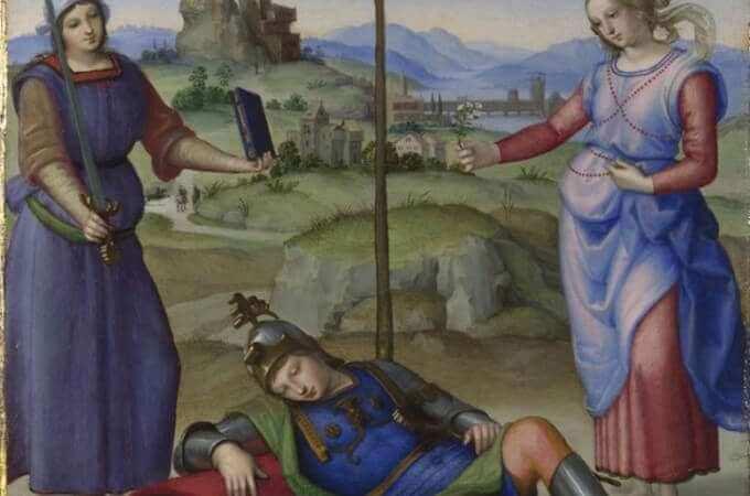 Raffaello, Il sogno del cavaliere, The National Gallery © The National Gallery, London