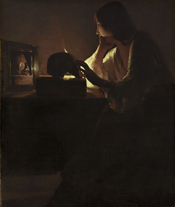Georges de La Tour, Maddalena penitente, 1635 - 1640. Olio su tela, 113 x 92,7 cm. National Gallery of Art, Washington D.C., Stati Uniti
