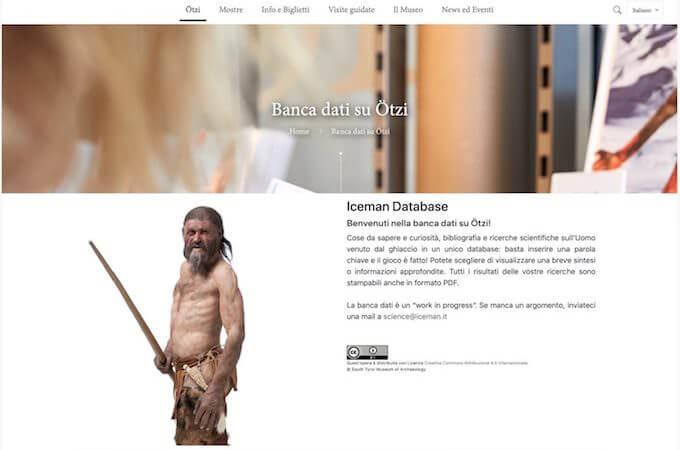 (c) Museo Archeologico dell'Alto Adige. Banca dati su Ötzi, l'Uomo venuto dal ghiaccio