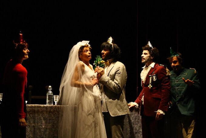 Il cast dell'Otello al Teatro Litta di Milano (2008)
