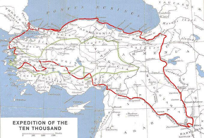 Itinerario dell'Anabasi di Senofonte