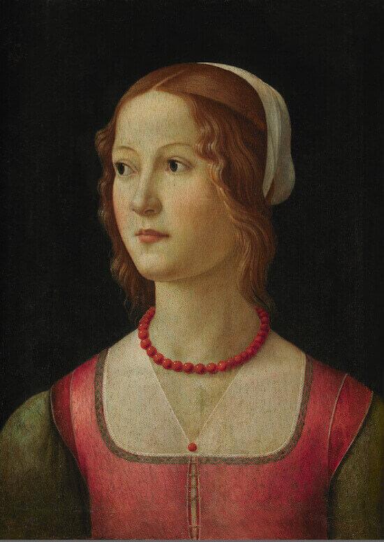 Domenico Ghirlandaio, Ritratto di giovane donna, Museo Gulbenkian, Lisbona