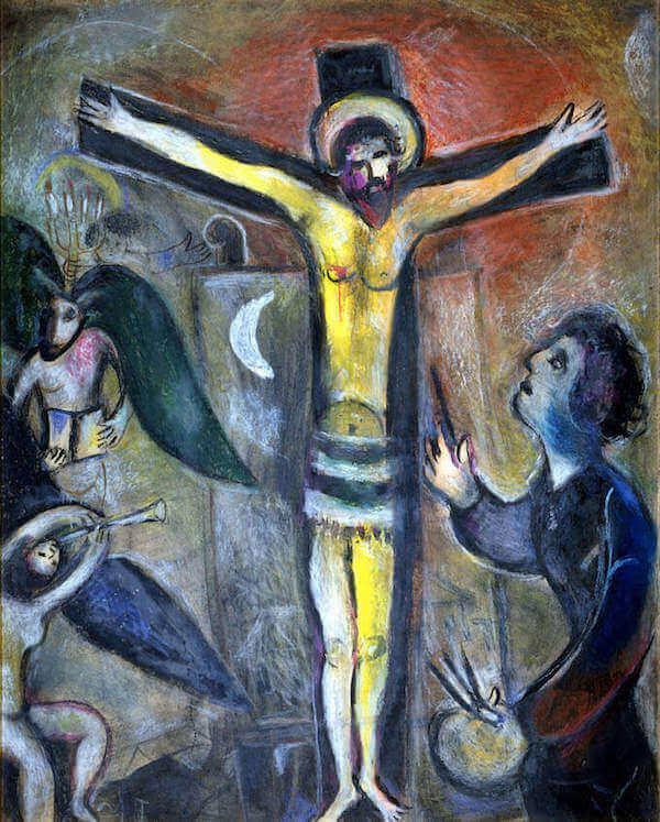 Marc Chagall, Le Christ et le peintre