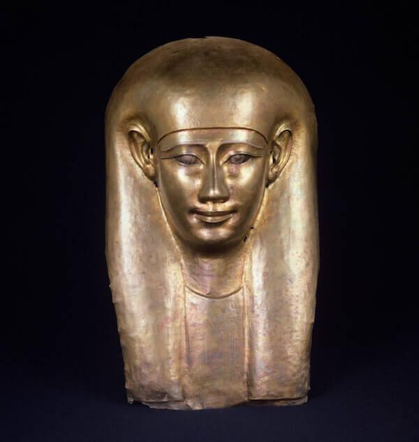 Maschera funeraria egizia, XXX dinastia. Museo Gulbenkian, Lisbona