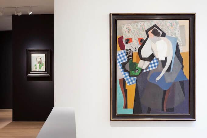 Palazzo Maffei: Pablo Picasso, Femme assise (sinistra) e Gino Severini, Jeanne dans l'atelier (Femme lisant) (destra). Foto di Paolo Riolzi