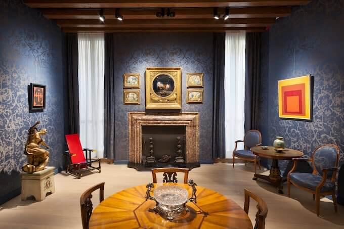 Il Salotto Blu del Palazzo Maffei a Verona