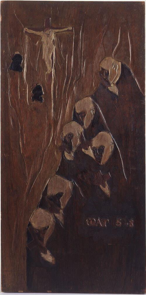 Paul Gauguin, Matteo 5-8, 1889 ca., legno di rovere policromo; © Governatorato SCV Direzione dei Musei
